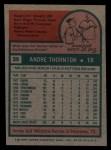 1975 Topps #39  Andy Thornton  Back Thumbnail