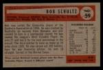 1954 Bowman #59  Robert Schultz  Back Thumbnail