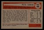 1954 Bowman #99 2B Pete Suder  Back Thumbnail