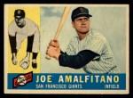 1960 Topps #356  Joe Amalfitano  Front Thumbnail