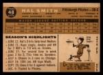 1960 Topps #48  Hal W. Smith  Back Thumbnail