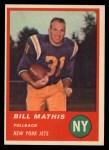 1963 Fleer #12  Bill Mathis  Front Thumbnail