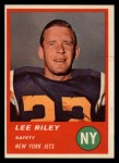 1963 Fleer #19  Lee Riley  Front Thumbnail