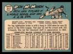 1965 Topps #317  Don McMahon  Back Thumbnail