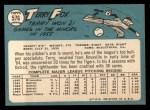 1965 Topps #576  Terry Fox  Back Thumbnail