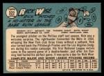 1965 Topps #322  Rick Wise  Back Thumbnail