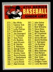 1970 Topps #343 BRN  Checklist 4 Front Thumbnail