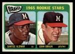 1965 Topps #82   -  Sandy Alomar / John Braun Braves Rookies Front Thumbnail