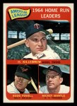 1965 Topps #3   -  Mickey Mantle / Harmon Killebrew / Boog Powell AL HR Leaders Front Thumbnail