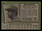 1971 Topps #690  Bob Moose  Back Thumbnail