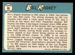 1965 Topps #66  Bill Rigney  Back Thumbnail