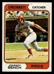 1974 Topps #10  Johnny Bench  Front Thumbnail