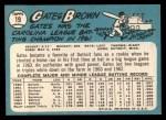 1965 Topps #19  Gates Brown  Back Thumbnail