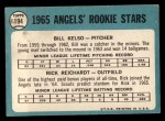 1965 Topps #194   -  Rick Reichardt / Bill Kelso Angels Rookies Back Thumbnail