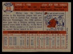 1957 Topps #25  Whitey Ford  Back Thumbnail