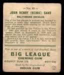 1933 Goudey #85  Heinie Sand  Back Thumbnail