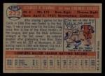 1957 Topps #222  Alex Grammas  Back Thumbnail