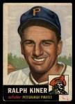 1953 Topps #191  Ralph Kiner  Front Thumbnail
