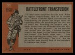 1965 Topps Battle #31   Battlefront Transfusion  Back Thumbnail