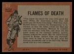 1965 Topps Battle #52   Flames of Death  Back Thumbnail