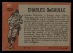 1965 Topps Battle #60  Charles DeGaulle   Back Thumbnail