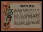 1965 Topps Battle #23   Suicide Dive  Back Thumbnail