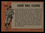 1965 Topps Battle #28   Caught While Escaping  Back Thumbnail