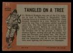 1965 Topps Battle #51   Tangled on Tree  Back Thumbnail