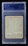 1935 Diamond Stars #63  Travis 'Stonewall' Jackson   Back Thumbnail