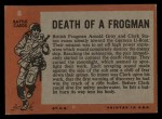 1965 Topps Battle #8   Death of Frogman  Back Thumbnail