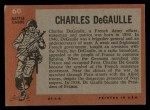 1965 Topps Battle #60  Charles DeGaulle   Back Thumbnail