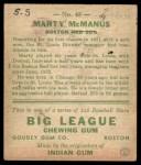 1933 Goudey #48  Marty McManus  Back Thumbnail