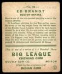 1933 Goudey #50  Ed Brandt  Back Thumbnail
