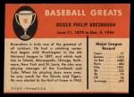 1961 Fleer #10  Roger Bresnahan  Back Thumbnail