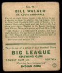 1933 Goudey #94  Bill Walker  Back Thumbnail
