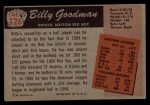1955 Bowman #126  Billy Goodman  Back Thumbnail