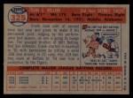 1957 Topps #325  Frank Bolling  Back Thumbnail