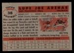 1956 Topps #38  Joe Arenas  Back Thumbnail