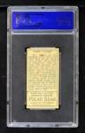 1911 T205 #186  Hippo Vaughn  Back Thumbnail