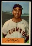 1954 Bowman #105 ERR Sal Maglie  Front Thumbnail