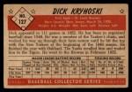 1953 Bowman #127  Dick Kryhoski  Back Thumbnail