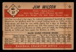 1953 Bowman #37  Jimmy Wilson  Back Thumbnail