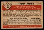 1953 Bowman #42  Tom Brown  Back Thumbnail