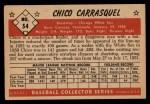 1953 Bowman #54  Chico Carrasquel  Back Thumbnail