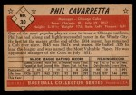 1953 Bowman #30  Phil Cavarretta  Back Thumbnail