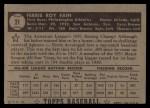 1952 Topps #21  Ferris Fain  Back Thumbnail