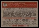 1952 Topps #224  Bruce Edwards  Back Thumbnail