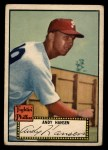 1952 Topps #74 BLK Andy Hansen  Front Thumbnail