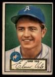 1952 Topps #34  Elmer Valo  Front Thumbnail