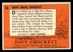 1956 Topps Davy Crockett #36 ORG  Don't Move Back Thumbnail